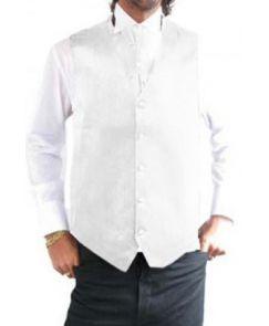 Gilet de costume blanc homme pas cher