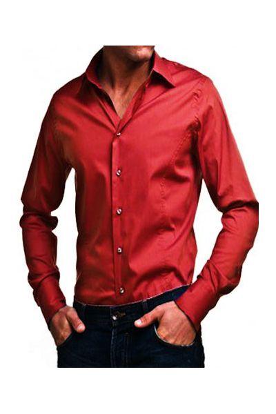 Chemise rouge homme - Chemise rouge et noir homme ...