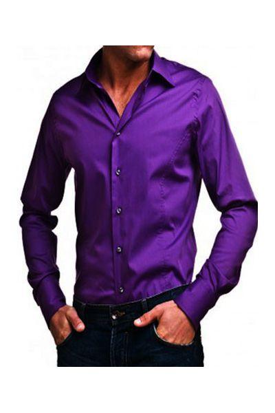 chemise kevin violet fonc pas cher kebello com. Black Bedroom Furniture Sets. Home Design Ideas
