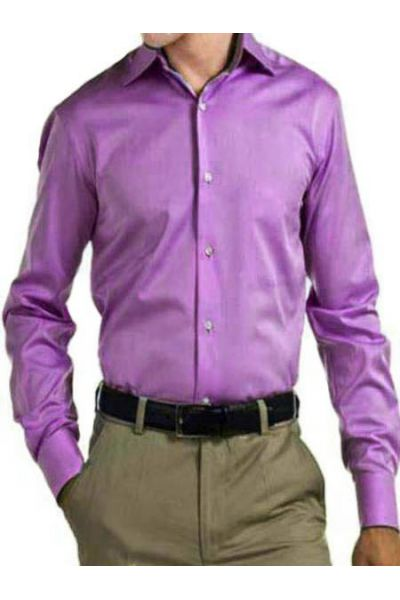 chemise kevin violet clair pas cher kebello com. Black Bedroom Furniture Sets. Home Design Ideas