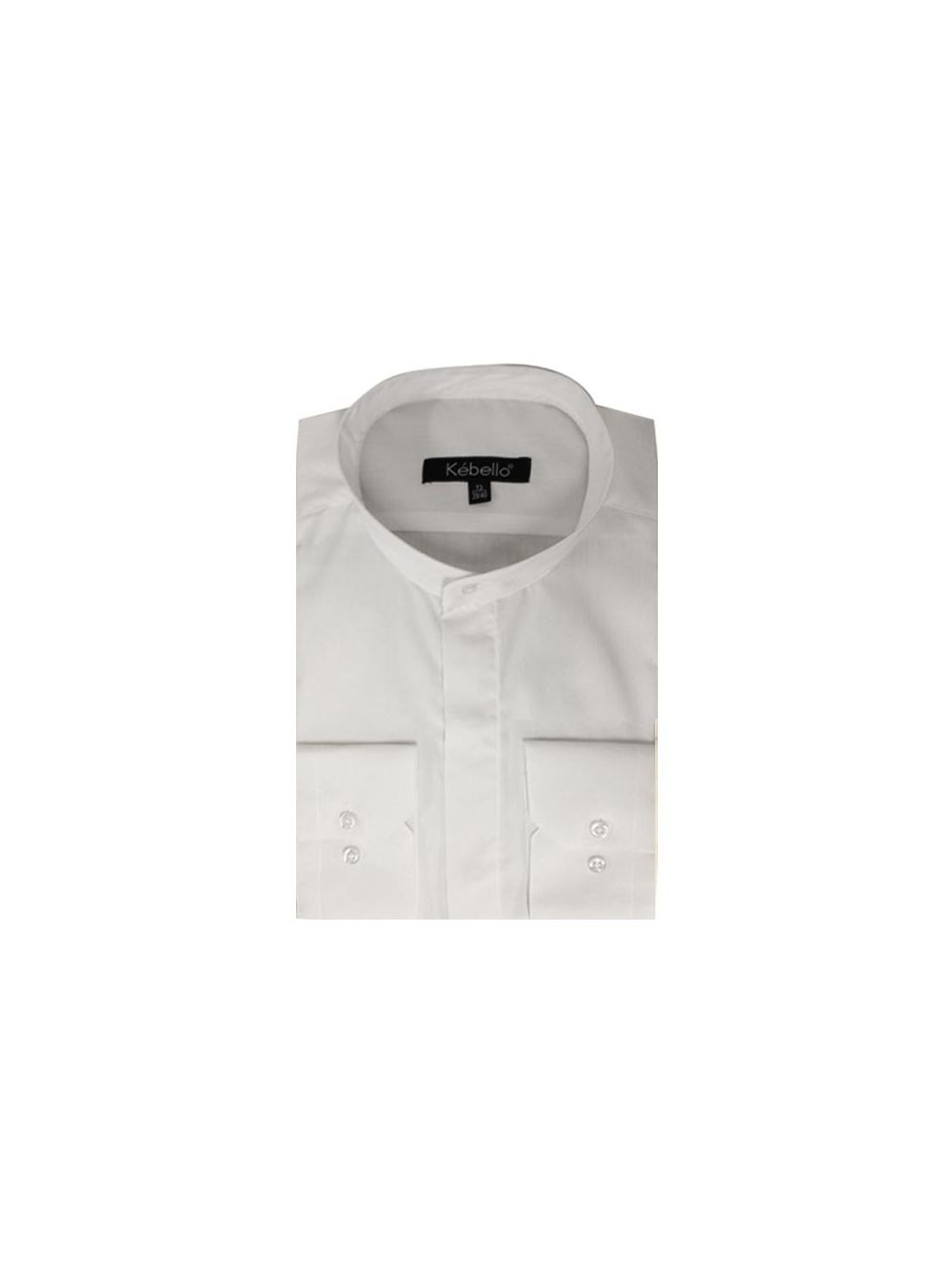 chemise blanche homme col mao pas cher kebello com. Black Bedroom Furniture Sets. Home Design Ideas