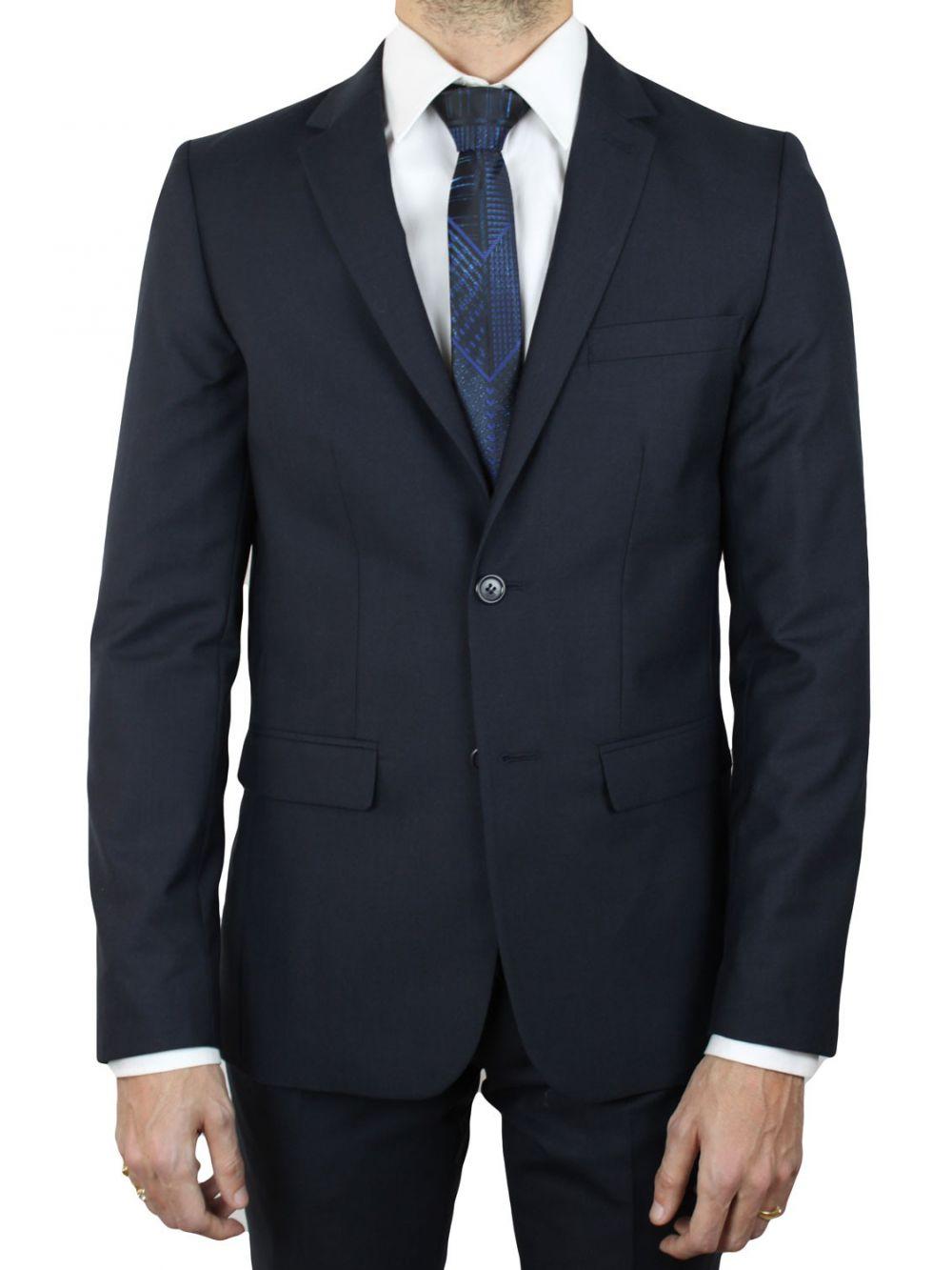 costume bleu marine 2 boutons pas cher costume homme kebello. Black Bedroom Furniture Sets. Home Design Ideas
