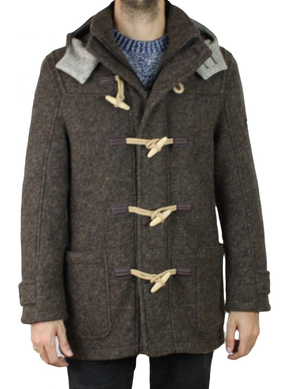 manteau duffle coat homme pierre cardin marron kebello com. Black Bedroom Furniture Sets. Home Design Ideas