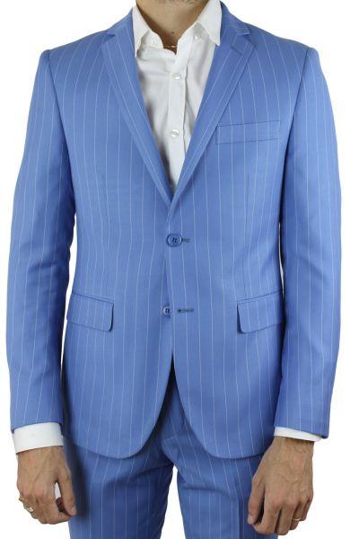 costume homme lordissimo rayure bleu ciel costume bleu kebello. Black Bedroom Furniture Sets. Home Design Ideas