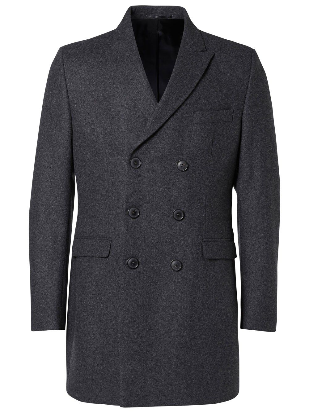 manteau selected mod le sharp gris kebello com. Black Bedroom Furniture Sets. Home Design Ideas