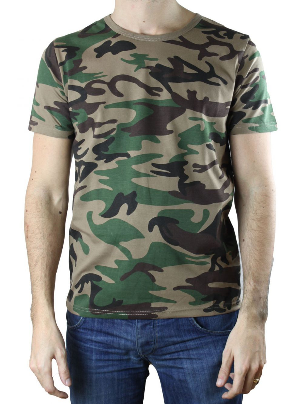 t shirt military col rond pas cher kebello com taille. Black Bedroom Furniture Sets. Home Design Ideas