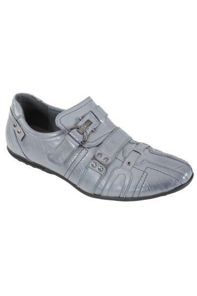 Kebello Baskets à scratch gris - Livraison Gratuite avec - Chaussures Baskets basses Homme