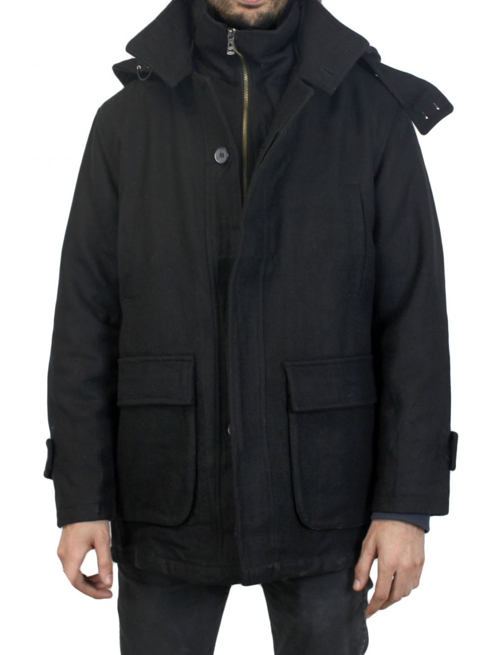 veste manteau homme noir ben 2 pas cher kebello com. Black Bedroom Furniture Sets. Home Design Ideas