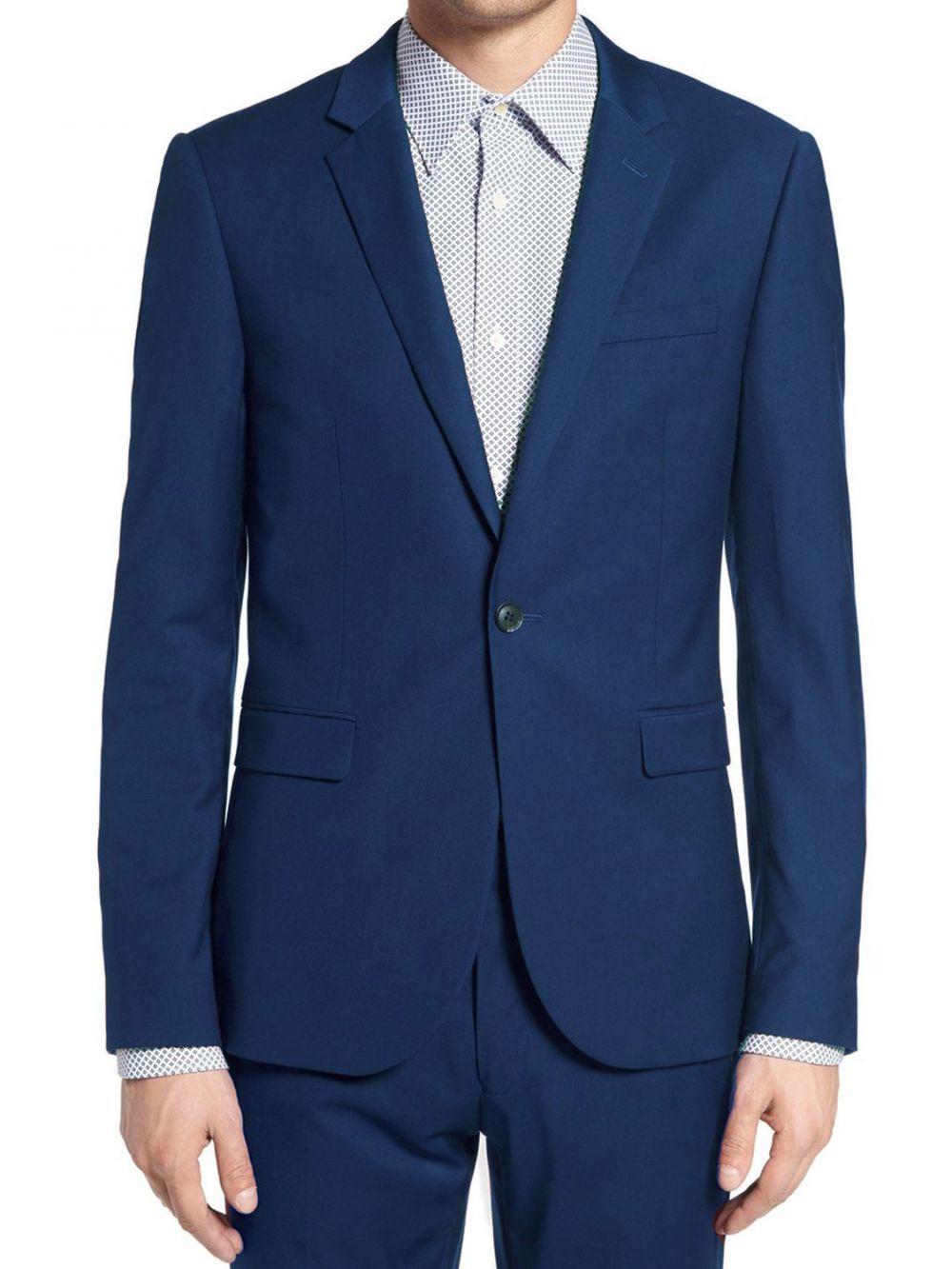 costume bleu cintr pour homme kebello. Black Bedroom Furniture Sets. Home Design Ideas