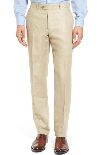 pantalon lin de couleur beige pas cher kebello com. Black Bedroom Furniture Sets. Home Design Ideas