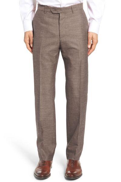Pantalon En Lin Marron Pour Homme | Kebello Com