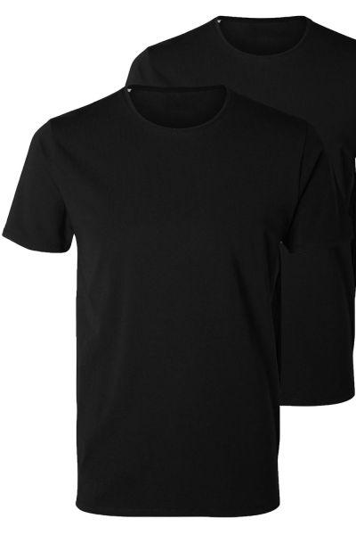 pack de deux t shirt noir col rond kebello com. Black Bedroom Furniture Sets. Home Design Ideas