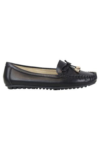 Kebello Mocassins bateau noir - Livraison Gratuite avec  - Chaussures Ballerines Femme
