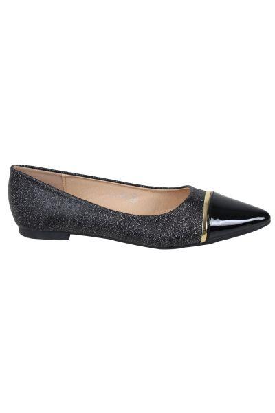 Kebello Ballerines pointues noir - Livraison Gratuite avec  - Chaussures Ballerines Femme