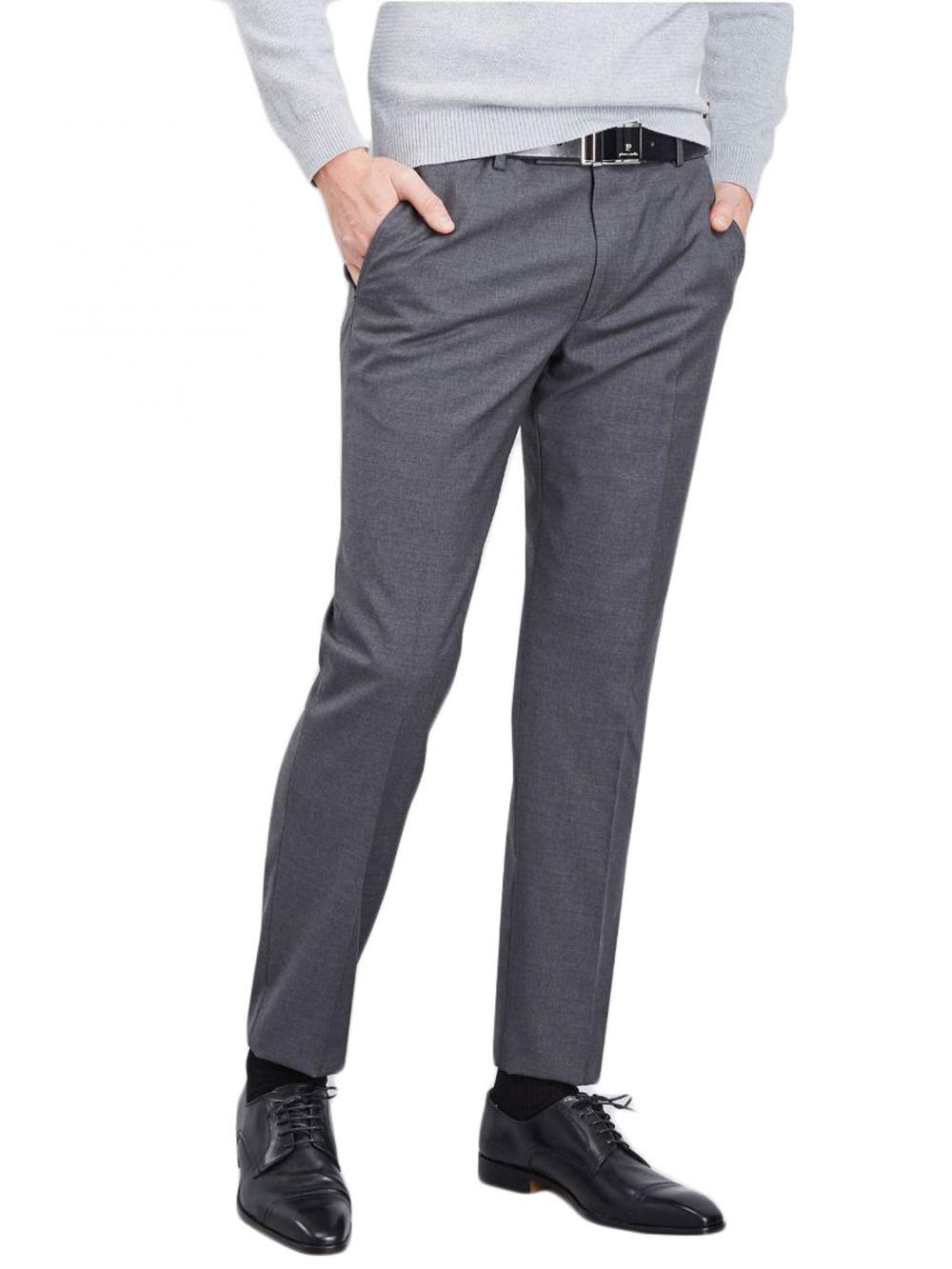 pantalon pierre cardin en laine gris moyen kebello com. Black Bedroom Furniture Sets. Home Design Ideas