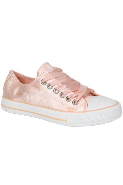 Kebello Baskets montanets rose - Livraison Gratuite avec  - Chaussures Basket montante Femme