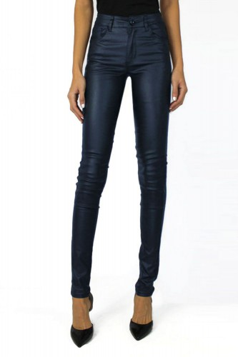 Jeans Simili cuir Push Up