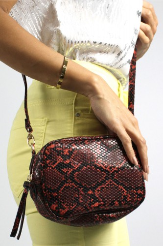 Sac imprimé serpent rouge