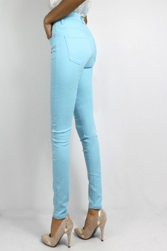 Jeans couleur turquoise