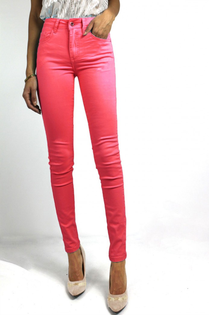 Jeans couleur rose Fuschia