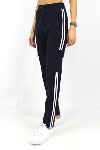 Jogging noir avec poches cargo