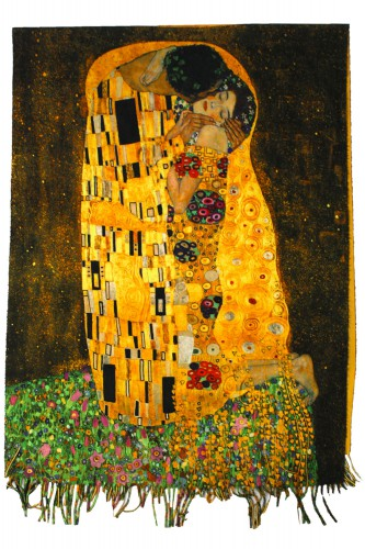 Echarpe peinture le baiser de Klimt