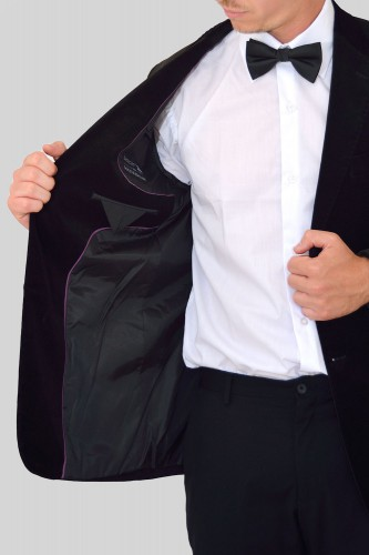 Veste en velours noir