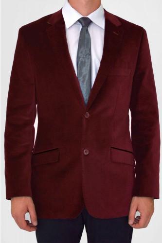 Veste en velours rouge