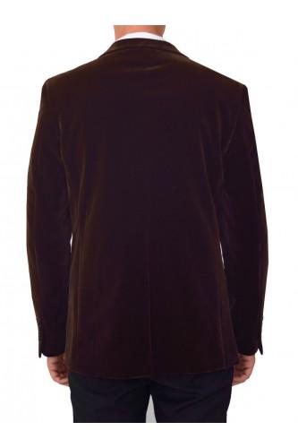 Veste en velours marron