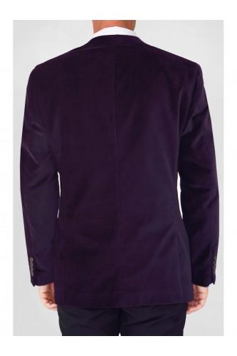 Veste en velours violette