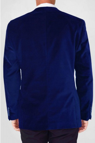 Veste en velours bleu
