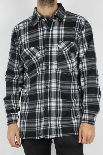 Chemise polaire noir et banche pour homme