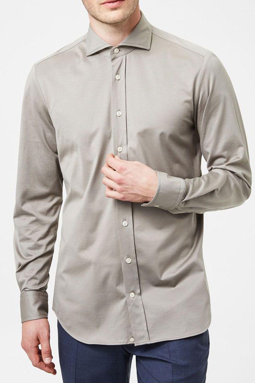Chemise beige classique pour homme