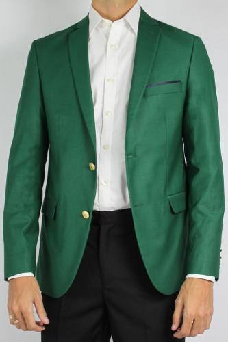 Veste blazer deux boutons vert
