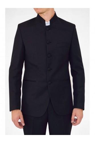 Veste noir col mao