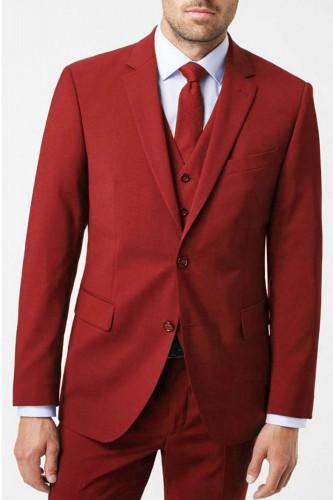 Veste rouge avec gilet pour homme