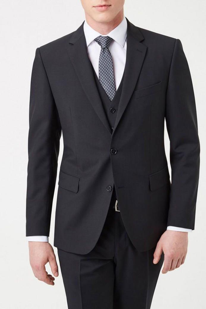 Veste noir avec gilet pour homme