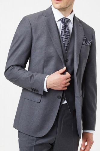 Veste grise avec gilet pour homme