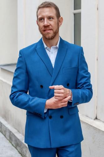 Veste croisé bleu
