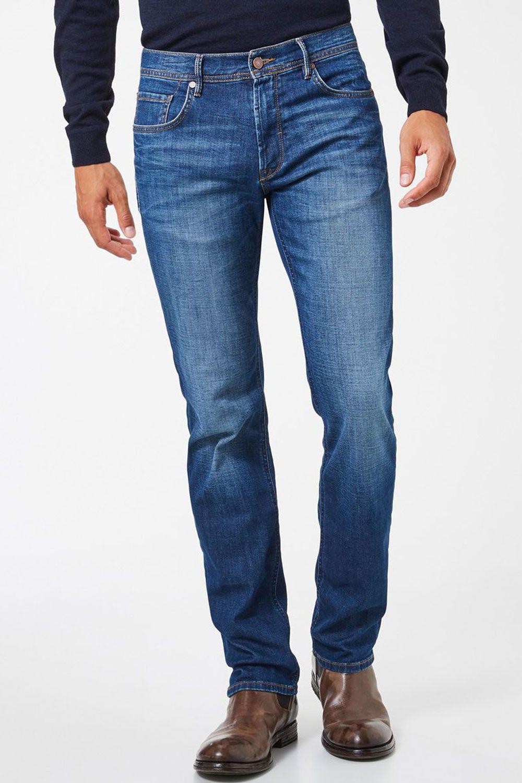 Jeans coupe classique bleu
