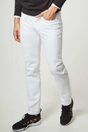 jeans regular blanc