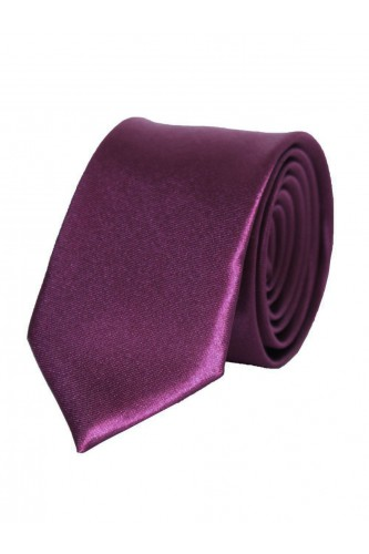Cravate violette en Satin Slim