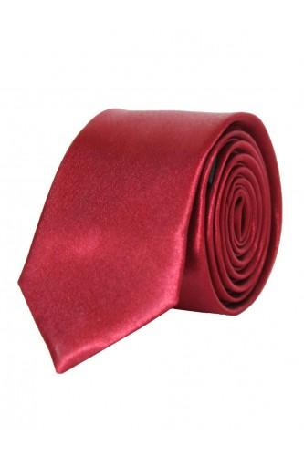 Cravate rouge en Satin Slim