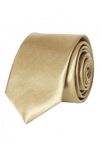 Cravate beige en Satin Slim