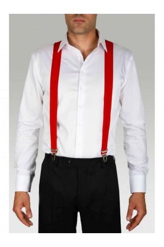 Bretelles rouge pour homme