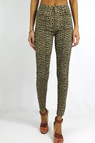 Jeans motifs léopard