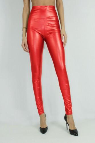 Leggings brillant rouge