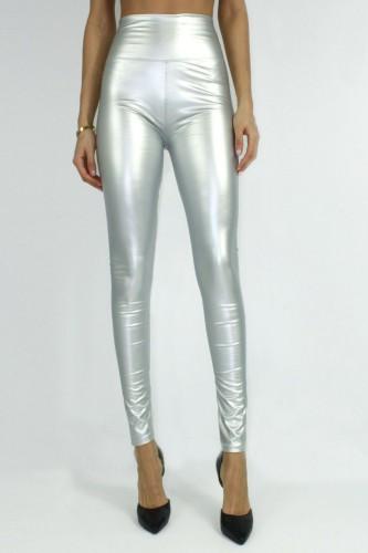Leggings brillant silver