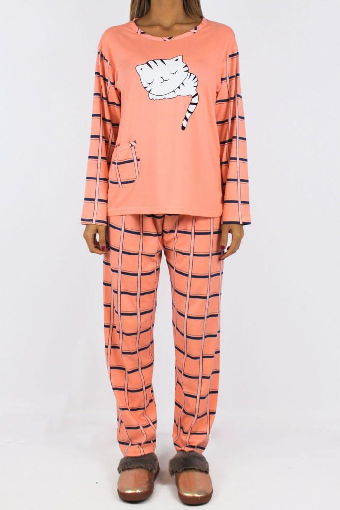 Pyjama cat orange