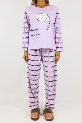 Pyjama cat violette